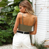 Strappy Tight Strap Cami Crop Vest Tank Top