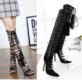 Strappy Tassels Women Fashion Sandals High Heels Shoes