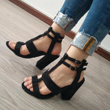 Ankle Strap Fashion Women Peep Toe Sandals High Heels Shoes