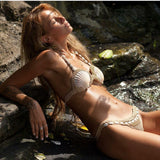 Shell Crochet Halter Fashion Bikini Set Swimsuit Swimwear