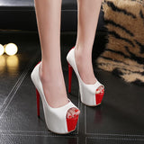 Peep Toe Women Fashion Stiletto High Heels Shoes