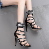 Hollow Rhinestone Women Fashion High Heels Shoes