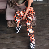 Women Fashion Edgy Cool Casual Tie Dye Pants Trousers