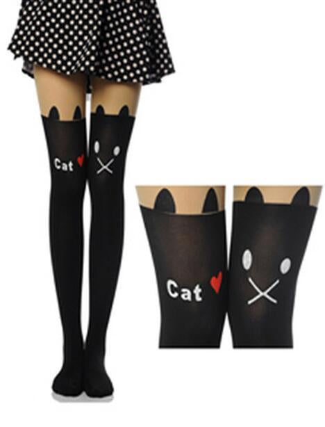 Cute Heart Hello kitty Print Socks Stockings