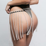 Fashion Pearl Halter Underwear Bralette Brassiere Bra Skirt Set Two Piece