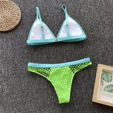 Triangle Swimwear Bathing Padded Bra Bikini Set Swimsuit Women Bandage Push-up Swimming Suit