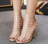 Hollow Women Fashion Sandals High Heels Shoes