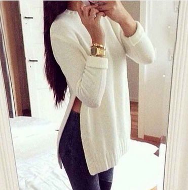 Fashion Long Sleeve Top Sweater Pullover