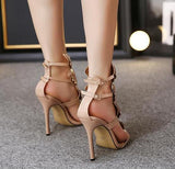 Wing Stiletto Fashion Women Peep Toe High Heels Shoes