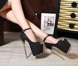 Sky-high Women Fashion Peep Toe High Heels Shoes