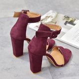 Peep Toe Fashion Women Ankle Strap Sandals High Heels Shoes