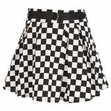 Pleated Checkerboard Skirts Womens High Waisted Skirt Casual Dancing Korean Sweat Short Summer Mini Skirts