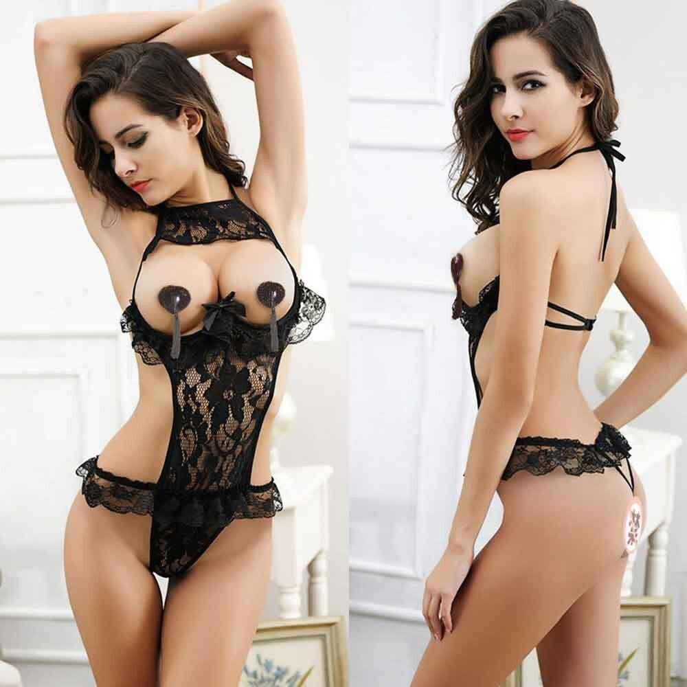 Sexy Underwear Porn Babydoll Dress Hot Lace Open Bra Open Crotch Sexy Lingerie