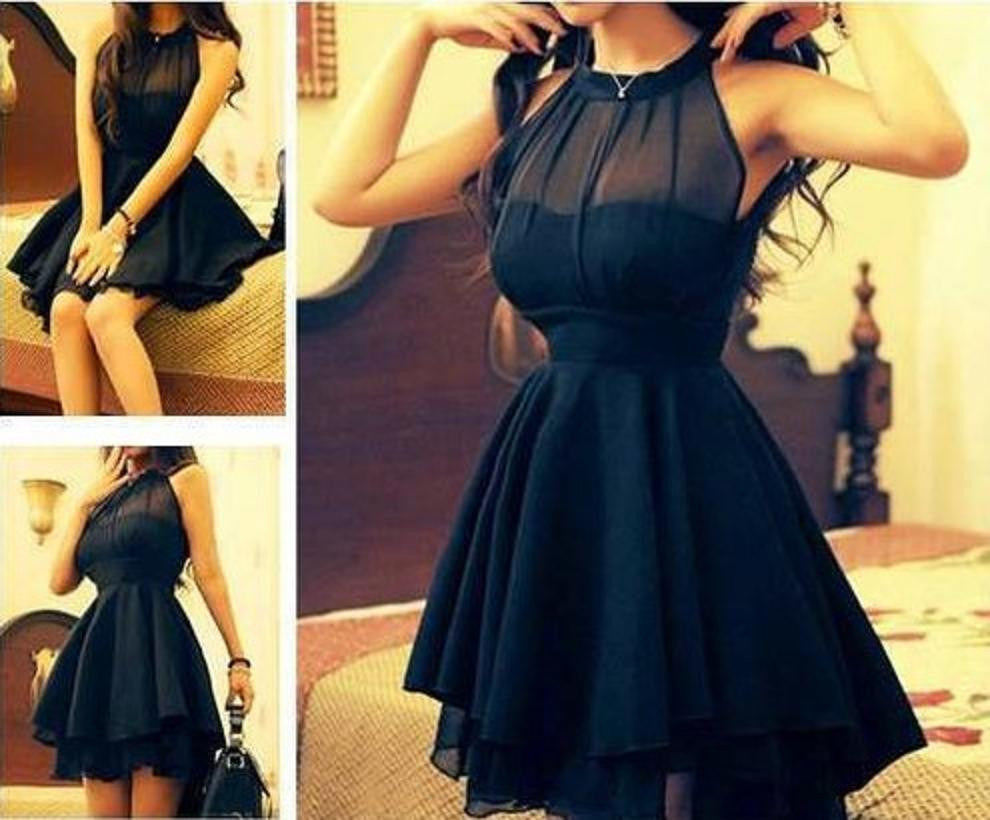 Fashion Gauze Solid color Dress