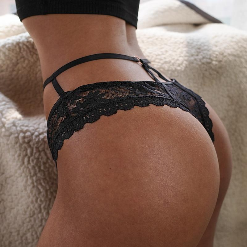Sexy Panties Women Lace G-String Thong Female Hollow Out Underwear Ladies Transparent Knickers Lingerie Intimates