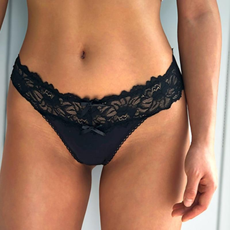 Women Sexy Lace Panties Low-waist Underwear Thong Female G String Breathable Lingerie Temptation Embroidery Intimates
