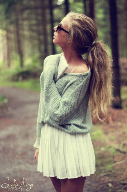 Fashion Solid color Top Sweater Pullover