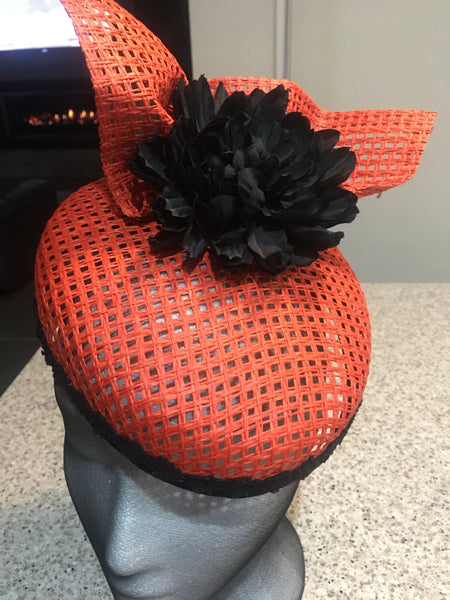 Taylor Orange  Hat /Fascinator