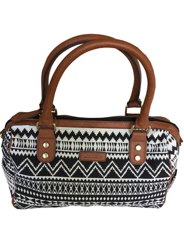 Black & White BoHo Tote Bag