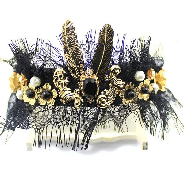 Queen Black Pearl Headband