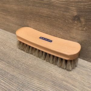 Saphir horse hair brush for leather shoe care. Stocked with Little Lusso Australia