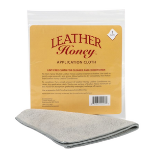 Lint-free application cloth for leather cleaner and conditioner. Stocked in Little Lusso Australia