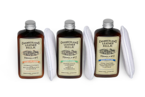 Leather Milk Restore & Protect Leather Care Set: No. 1, No. 2 & No.3