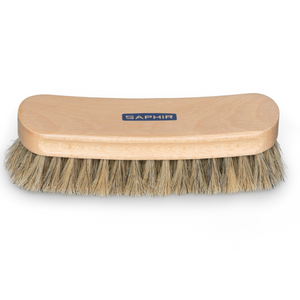 Saphir horse hair brush for leather shoe care. Stocked by Little Lusso Australia