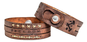 Hand made leather wrist band