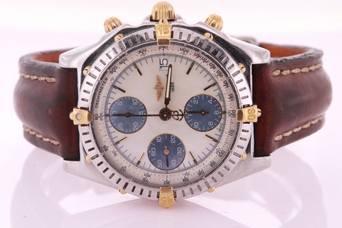 Breitling Chronomat Mother of Pearl Mens Watch Automatic