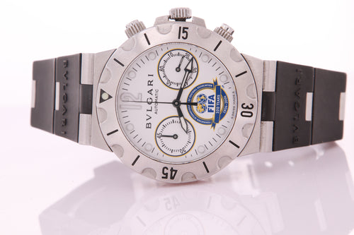 Bulgari Diagono Scuba FIFA Limited Edition Mens Automatic Watch SC38 Chronograph