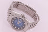 Rolex Datejust Automatic Men's Steel Watch with Blue Vignette Diamond dial 16220
