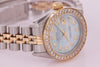 Rolex Datejust Ladies Stainless Steel & Gold Automatic Diamond Watch with Papers
