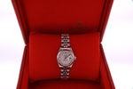 Rolex Datejust Automatic Ladies Stainless Steel Watch Silver Diamond Dial 79174