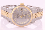 Rolex Datejust Ladies Midsize Stainless Steel & Gold Watch 68273 with Papers