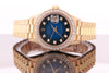 Rolex Datejust 18K Yellow Gold Ladies Diamond Watch 69178 with Box and Papers