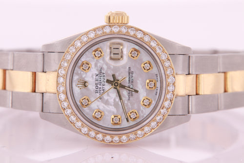 Rolex Datejust Ladies Steel & Gold Automatic Oyster Diamond Watch Certificate