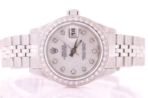 Rolex Datejust Ladies Stainless Steel Automatic Diamond Watch with Rolex Box