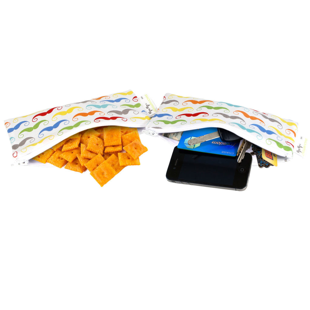 SNACK HAPPENS MINI™ REUSABLE SNACK AND EVERYTHING BAG