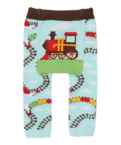 Doodle Pants Blue Train Leggings