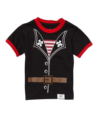 Doodle Pants Black Pirate Tee