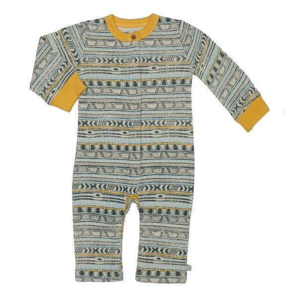 Tribal Stripe Print Coverall