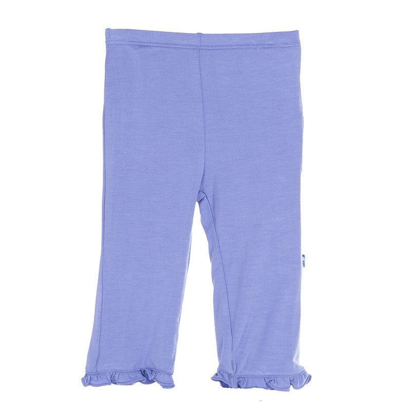 Solid Ruffle Pant- Forget Me Not
