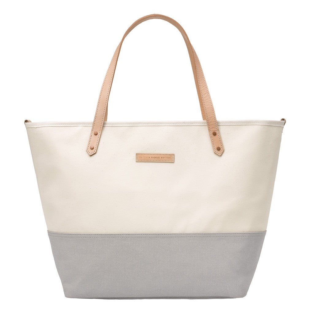 Downtown Tote- Coated Canvas