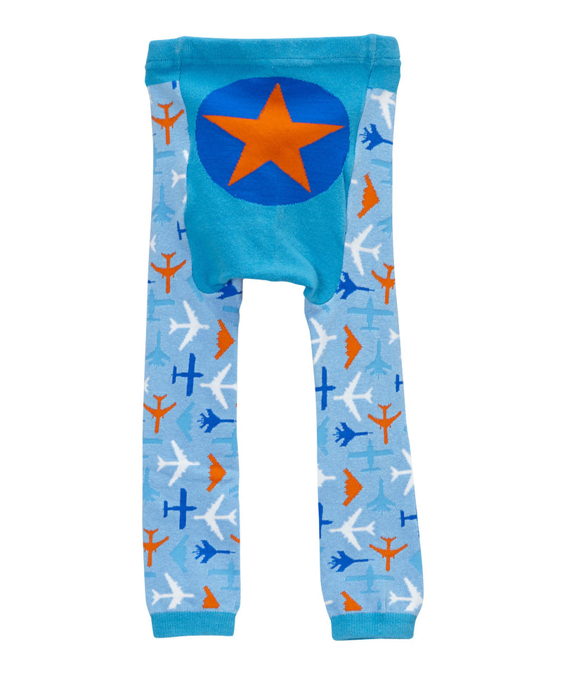 Doodle Pants Blue Airplanes Leggings