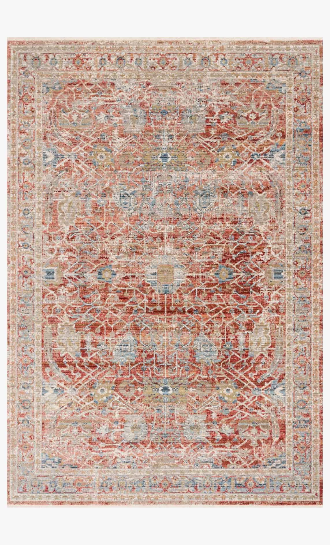 Claire Rug Red Ivory by Loloi at Blue Hand Home