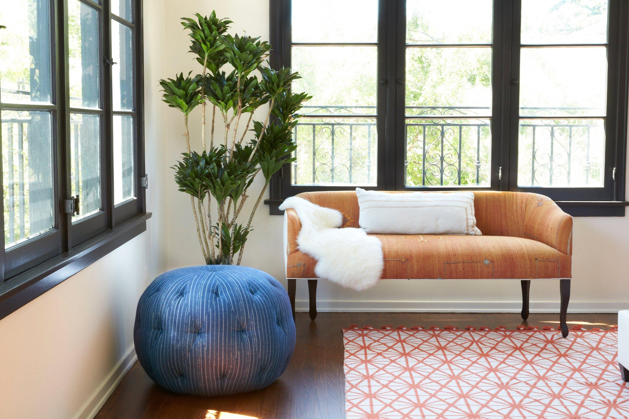 Cisco Pouf ottoman at Blue Hand Home