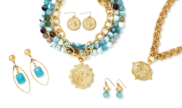Susan Shaw Jewelry at Blue Hand Home in store and online