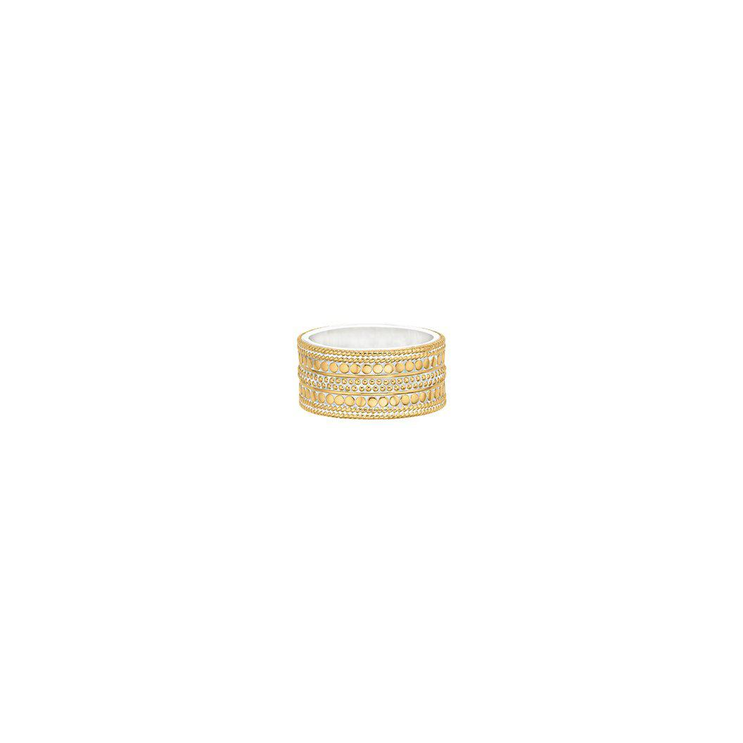 Anna Beck Divided Cigar Band Ring- Gold