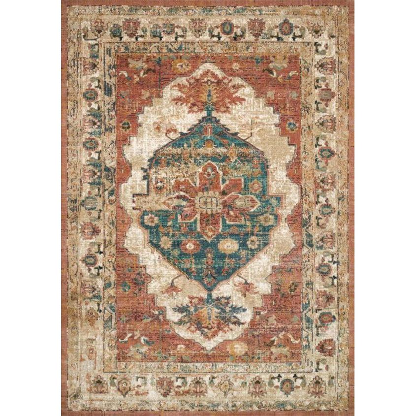 Joanna Gaines Evie Rug Collection - Spice/Multi-Loloi Rugs-Blue Hand Home